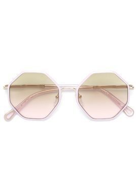 Chloé Kids geometric shape sunglasses - Pink & Purple