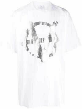 VETEMENTS Anarchy graphic-print T-shirt - White