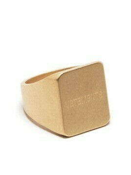 VETEMENTS logo engraved ring - Gold