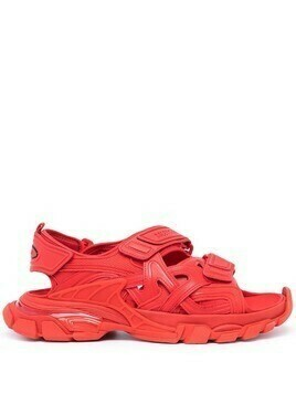 Balenciaga Track touch-strap sandals - Red