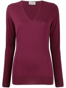 John Smedley long-sleeve fitted jumper - Red