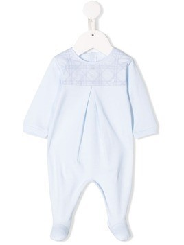 Baby Dior embroidered romper - Blue