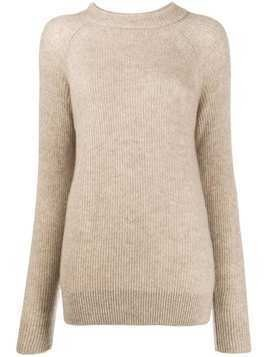 Agnona ribbed raglan-sleeves jumper - NEUTRALS