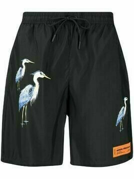 Heron Preston herons-print swim shorts - Black