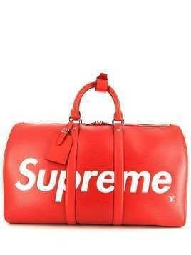 Louis Vuitton 2017 x Supreme Keepall travel bag - Red