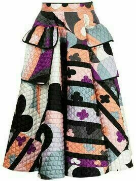 Emilio Pucci Pre-Owned abstract-print quilted skirt - Multicolour