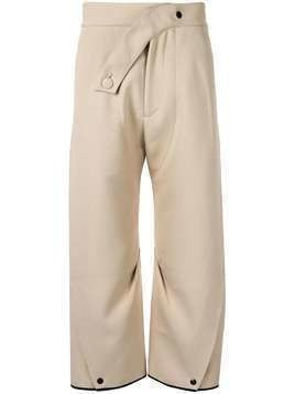Kiko Kostadinov loose fit cropped trousers - NEUTRALS