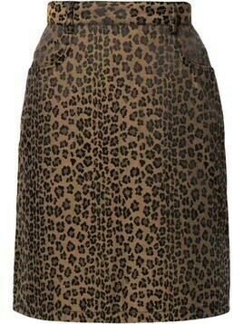 Fendi Pre-Owned leopard print high-waisted skirt - Brown
