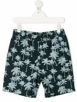 Molo Acton palm tree-print shorts - Blue