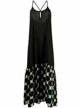 Masnada geometric-print maxi dress - Black