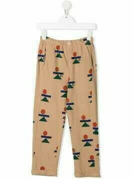 Bobo Choses shapes-print trousers - Neutrals