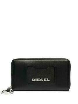 Diesel logo plaque wallet - Black