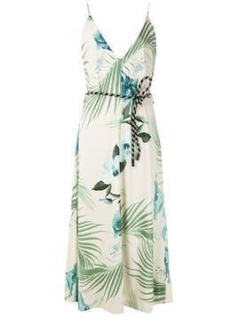 Osklen Hibisco print wrap dress - White