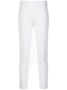 Le Tricot Perugia slim-fit tailored trousers - White
