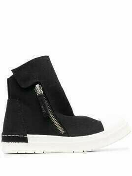 Cinzia Araia side zipped sneakers - Black