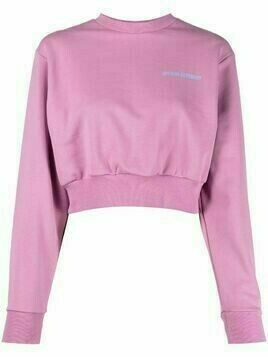 Opening Ceremony word torch cropped sweatshirt - Pink