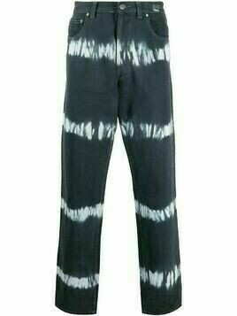 Versace Pre-Owned 2000s tie-dye straight-leg jeans - Blue