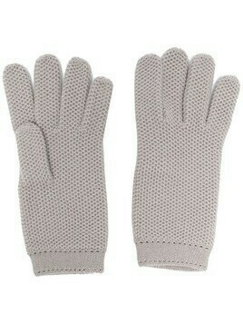 Loro Piana knitted cashmere gloves - Grey