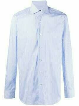 Barba classic striped shirt - Blue