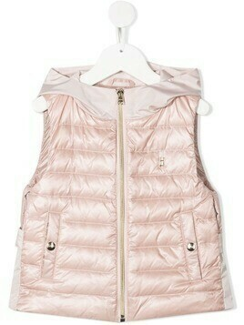 Herno Kids zipped padded gilet - Neutrals