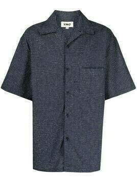 YMC check print shirt - Blue