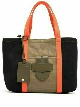 Tila March medium canvas tote bag - Black