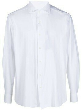 Corneliani plain button-down shirt - White