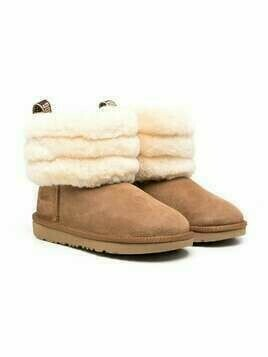 UGG Kids shearling ankle boots - Neutrals