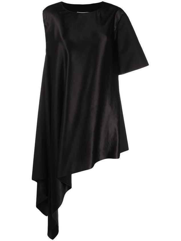 MM6 Maison Margiela asymmetric midi dress - Black