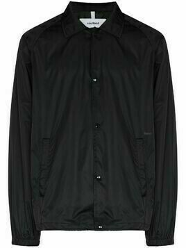 Soulland tonal-logo shirt jacket - Black