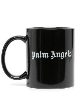 Palm Angels logo print mug - Black