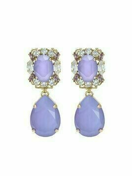 Anton Heunis Michelle crystal-embellished drop earrings - Purple