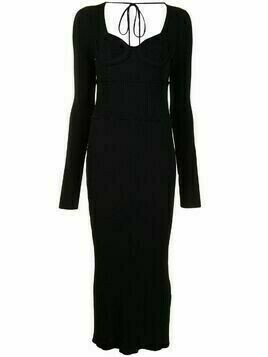 Altuzarra Louisa ribbed-knit dress - Black
