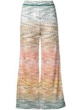 Missoni knitted crop trousers - Blue