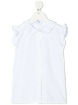 Siola rounded-collar sleeveless blouse - White