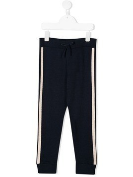 Chloé Kids side-striped track pants - Blue