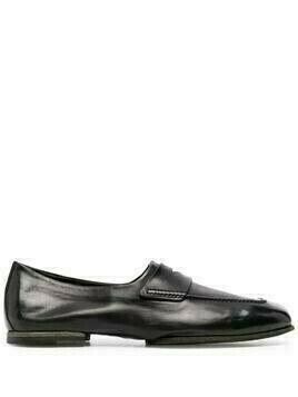 Silvano Sassetti polished-leather loafers - Black