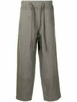Ziggy Chen wide leg cotton trousers - Grey