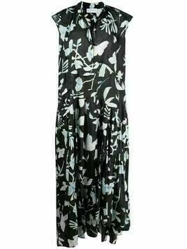 Christian Wijnants long floral dress - Black