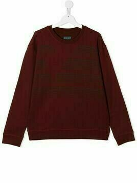 Emporio Armani Kids TEEN slogan-print sweatshirt - Red