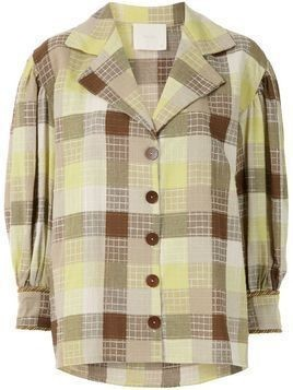 Framed Madeleine check relaxed fit shirt - Green