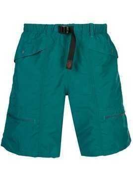 Battenwear Belted Camp Shorts - Blue
