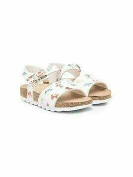 Monnalisa nautical-print sandals - White
