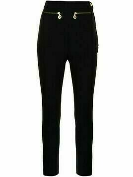 Chanel Pre-Owned CC logo slim-fit trousers - Black