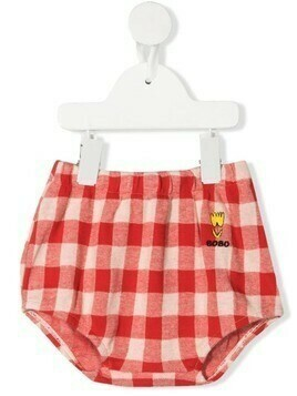 Bobo Choses vichy-print organic cotton bloomers - Red