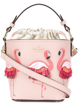 Kate Spade flamingo embellished tote bag - Pink & Purple