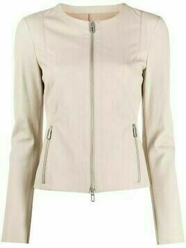 Drome collarless leather jacket - Neutrals