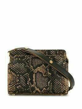 Marni Trunk snakeskin-effect shoulder bag - Brown