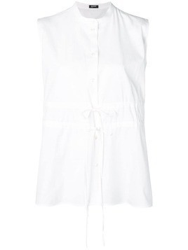 Jil Sander Navy sleeveless collarless shirt - White