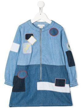 Stella McCartney Kids patchwork denim dress - Blue